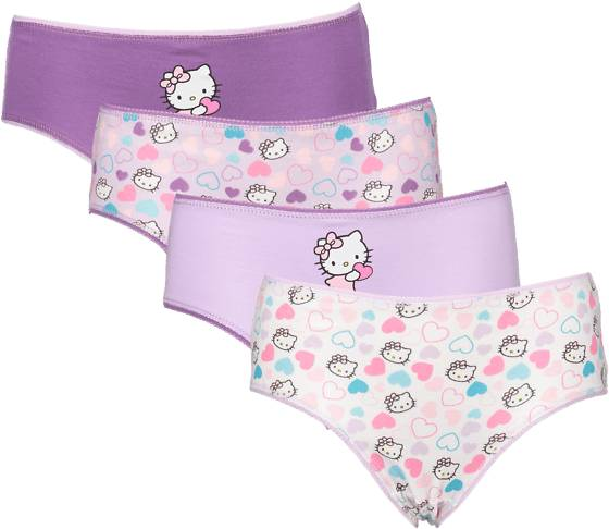 Hello Kitty So 4-p Pantie Jr Alusvaatteet LILAC HEART (Sizes: 110-116)