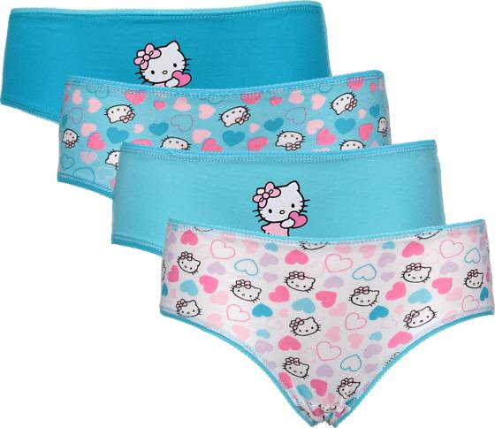 Hello Kitty So 4-p Pantie Jr Alusvaatteet TURQUISE HEART (Sizes: 98-104)