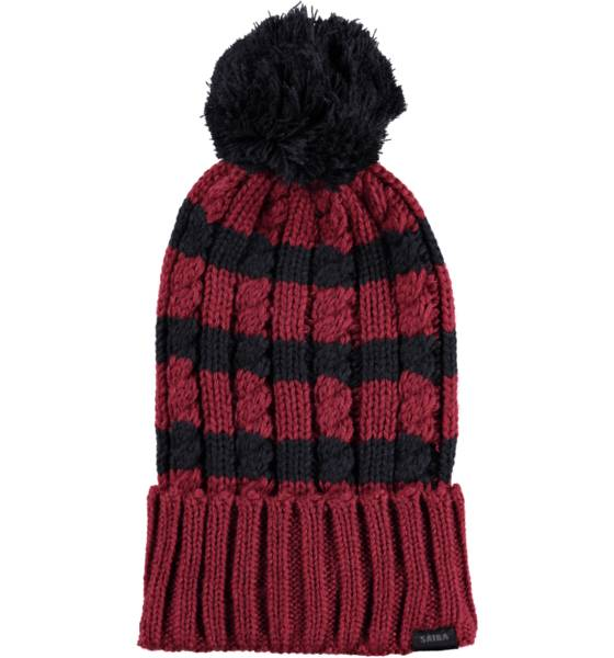 Sätila Pipot & huivit Sätila So Str Knit Pom WINE RED/NAVY (Sizes: No Size)