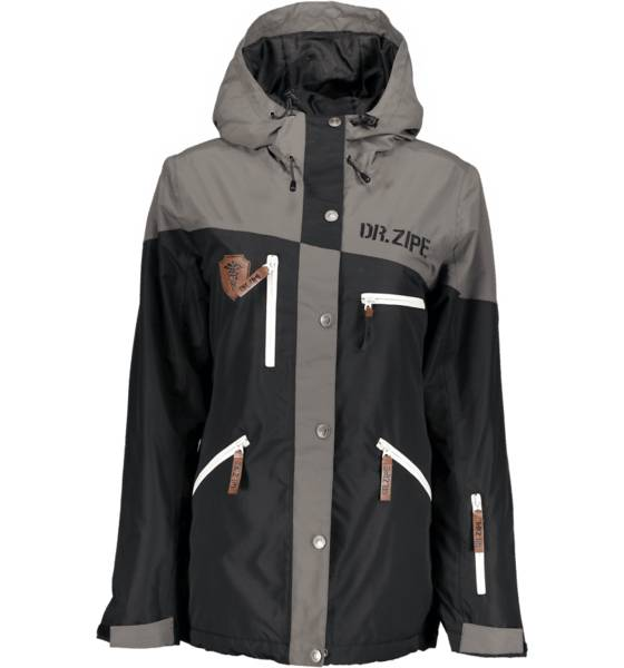 Dr Zipe Takit Dr Zipe So Epidemic Jkt W BLACK/GREY (Sizes: L)