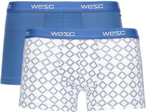 Wesc Alusvaatteet Wesc So Wesc Boxer 2p M BLUE / WHT PRINT (Sizes: XXL)