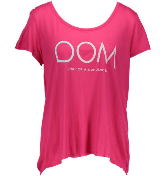 Drop Of Mindfulness Topit Drop Of Mindfulness So Goldie Tee W FUCHSIA (Sizes: XS)