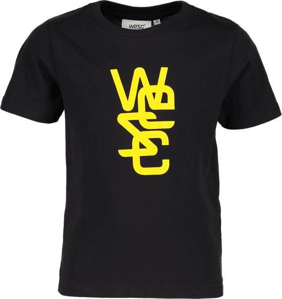 Wesc T-paidat & topit Wesc So Overlay Tee Jr BLACK (Sizes: 160)