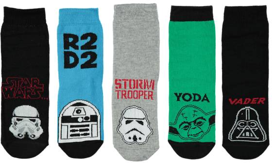 Star Wars Alusvaatteet Star Wars So 5p Star W Socks BLACK/WHITE (Sizes: 22-24)