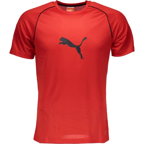 Puma T-paidat Puma So Ringer Jersey M P.RED/BLK (Sizes: XS)