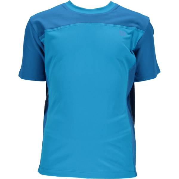 Wilson T-paidat & topit Wilson B Rush Colorblock Crew NEW BLUE/POOL (Sizes: L)
