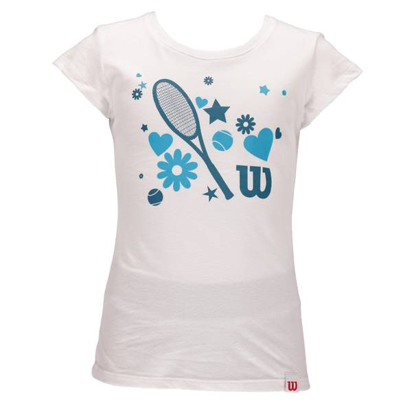 Wilson So Heart Racket G T-paidat & topit WHITE (Sizes: XS)