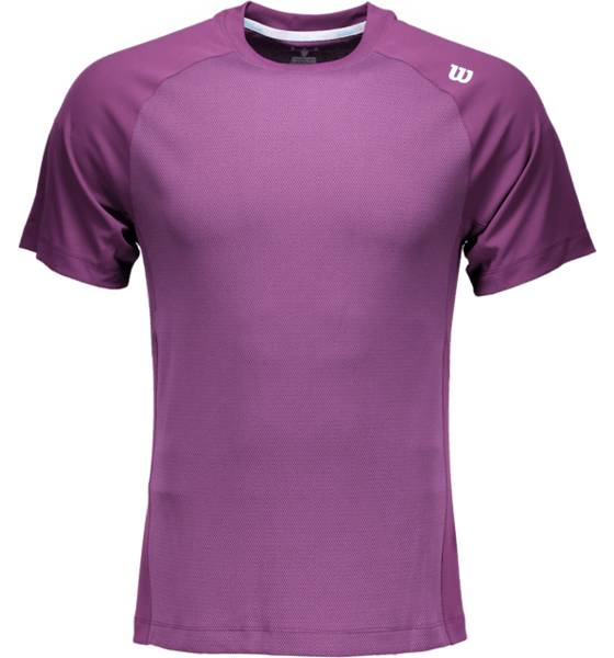 Wilson M Lsu Two Tone Knit Crew T-paidat DEEP PLUM WIL (Sizes: S)