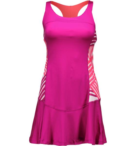 Wilson Mekot & hameet Wilson W Sp Watercolor Racerbk Dress FIESTA PINK (Sizes: XS)