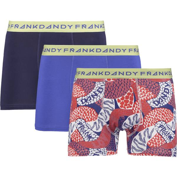 Frank Dandy So 3-p Boxer M Alusvaatteet BLUE/SNAKE/NAVY (Sizes: XXL)