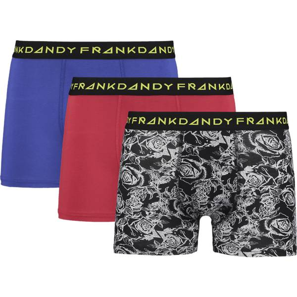 Frank Dandy So 3-p Boxer M Alusvaatteet BLUE/ROSE/RED (Sizes: L)