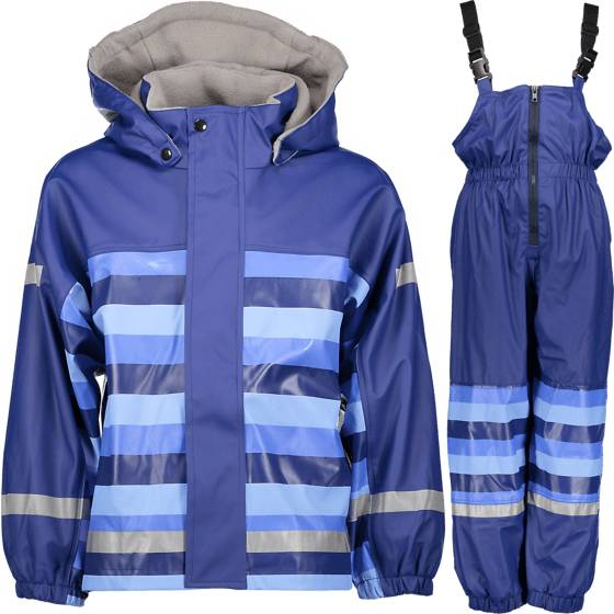 Pax Sadevaatteet Pax So Pu Lined Set Jr LT BLUE STRIPE (Sizes: 90)
