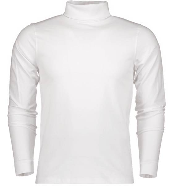 Tribute T-paidat Tribute So Rollneck Ls T M WHITE (Sizes: S)