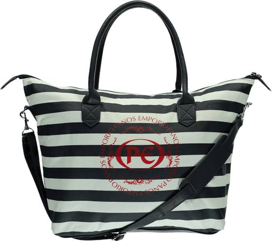 Panos Emporio Laukut Panos Emporio So Bologna Bag NAVY/WHT STRIPE (Sizes: One size)