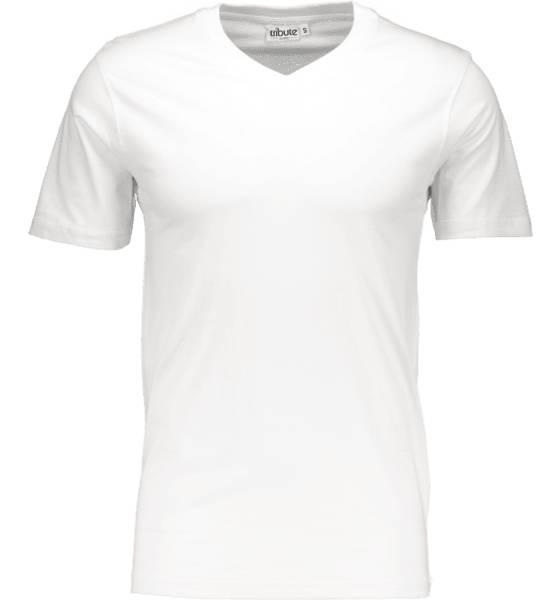 Tribute So Basic V-neck Tm T-paidat WHITE (Sizes: L)