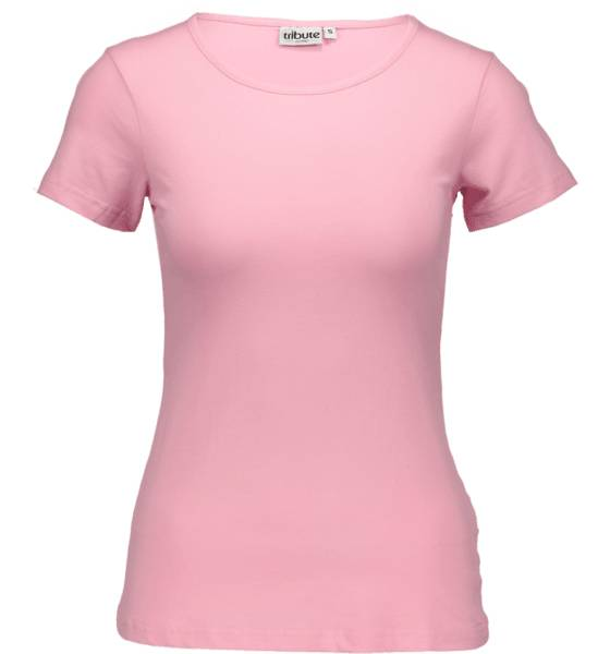 Tribute Topit Tribute So Basic Tee W LIGHT PINK (Sizes: L)