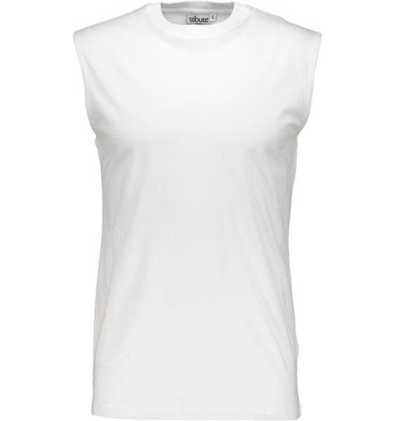 Tribute So Basic Sleeveless Tee M T-paidat WHITE (Sizes: XL)