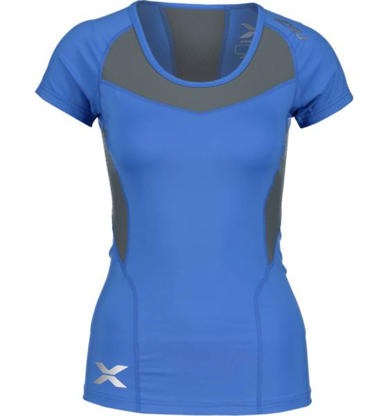 2xu So Comp Ss Top W Treeni BLUE/GREY (Sizes: XS)