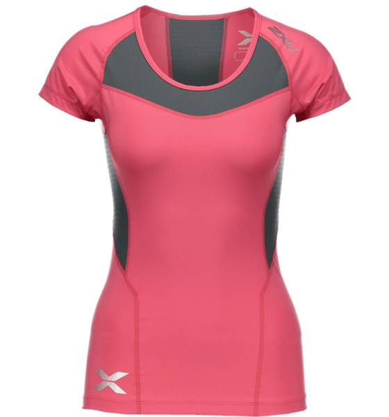 2xu So Comp Ss Top W Treeni TANGERINE/GREY (Sizes: M)
