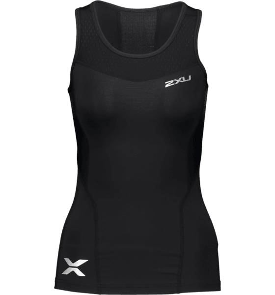 2xu So Comp Tank Top W Treeni BLACK/BLACK (Sizes: L)