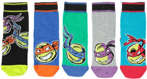 Turtles Alusvaatteet Turtles So 5p Turtles Sock BLUE/GREEN (Sizes: 22-24)