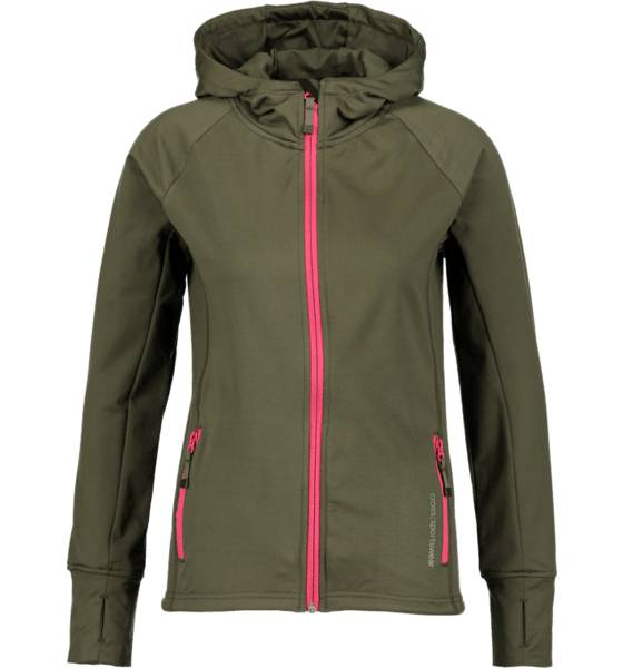 Cross Sportswear So Powerstretch Hood W Yläosat DEEP GREEN (Sizes: XS)