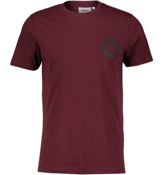Wesc T-paidat Wesc So Chest Tee M BURGUNDY RED (Sizes: XL)