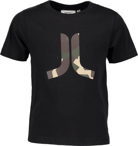 Wesc T-paidat & topit Wesc So In Icon Tee Jr BLACK (Sizes: 120)