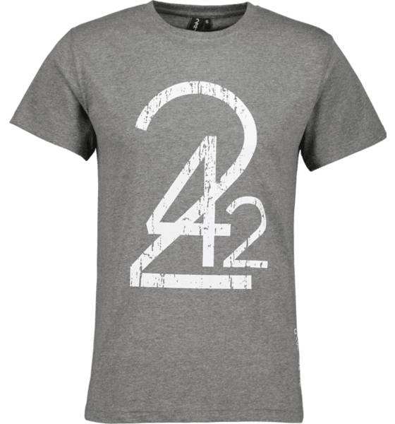 242 So Print 242 Tee M T-paidat GREY MELANGE (Sizes: XL)