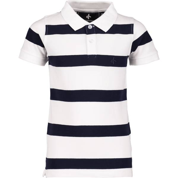 Cross Sportswear So Stripe Piké Jr Yläosat WHITE/NAVY (Sizes: 120)