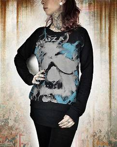 Yakuza Ink Skull Allover Sweat Black