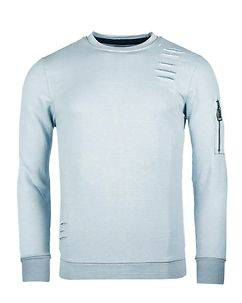 MZ72 Brand Jets Sweatshirt Ice Blue