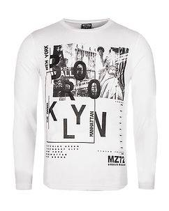 MZGZ Brand The Type Longsleeve White