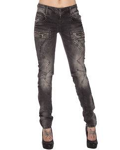 Cipo & Baxx Ladies Neve Jeans Anthracite