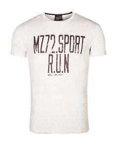 MZ72 Brand The Phil T-Shirt White Melange