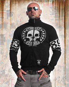Yakuza Ink Skull Label Zipper Black