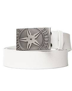 Disturb Clothing Throwing Star Belt Ivory White