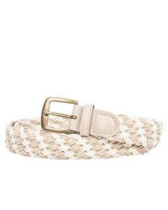 Highness Braided Canvas Belt Double Beige