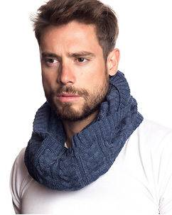 MZGZ Brand Out Tube Scarf Blue