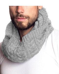 MZ72 Brand Out Tube Scarf Grey
