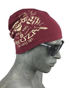 Yakuza Ink Kill Me Beanie Ruby Wine