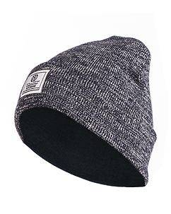 MZ72 Brand Fancy Beanie Blue Melange