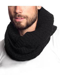MZGZ Brand Out Tube Scarf Black