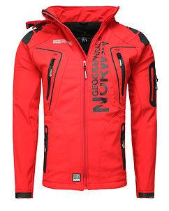 Geographical Norway Tambour-Taco Softshell Jacket Red
