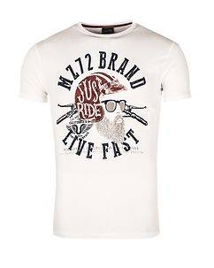 MZ72 Brand The Knife T-Shirt White