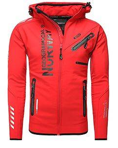 Geographical Norway Richier Softshell Jacket Red