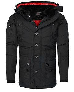 Geographical Norway Calcul Parka Jacket Black