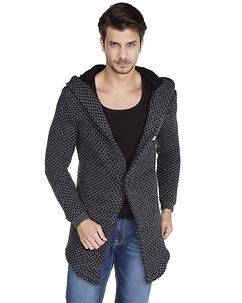 Cipo & Baxx CP162 Hooded Cardigan Anthracite
