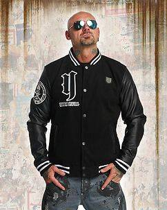Yakuza Ink Cross Bones College Jacket Black