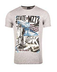MZ72 Brand The City T-Shirt Light Grey Melange